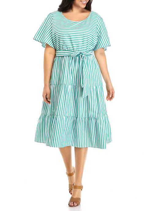Kim Rogers® Plus Size Tier Dress