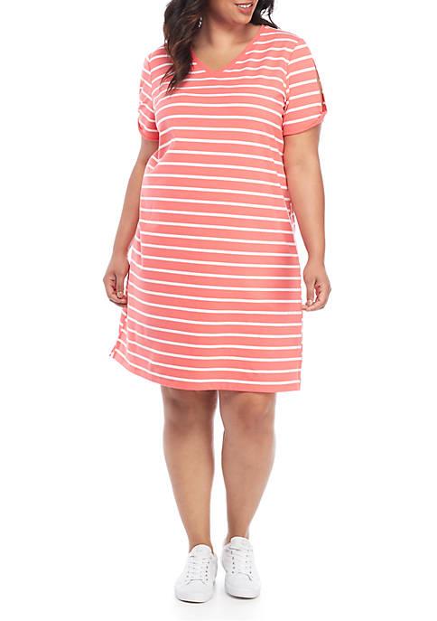 Kim Rogers® Plus Size Twist Sleeve Dress