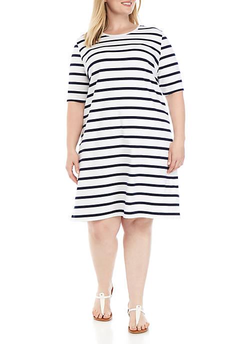 Kim Rogers® Plus Size 3/4 Sleeve Mega Dress
