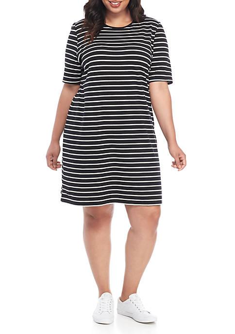 Kim Rogers® Plus Size Short Sleeve Mega Dress