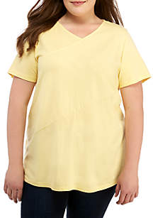 Kim Rogers® Plus Size Short Sleeve Knit Top