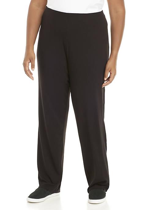 Kim Rogers® Plus Size Average Straight Leg Pants