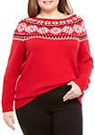 Plus Size Fair Isle Pullover Sweater