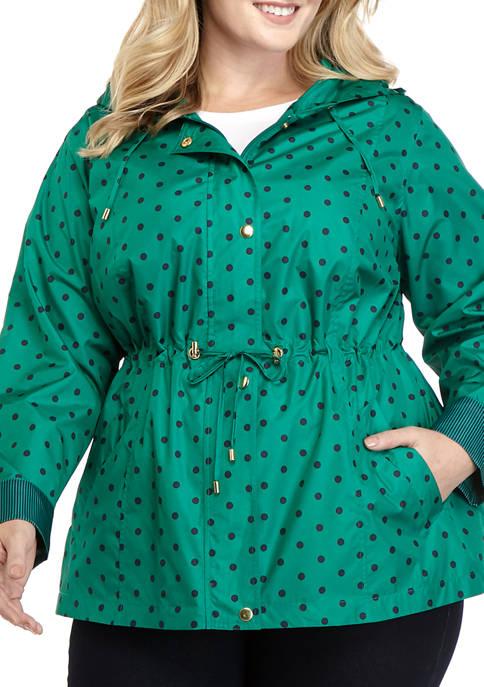 Kim Rogers® Plus Size Long Sleeve Anorak Printed