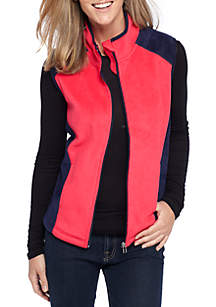 Solid Colorblock Vest