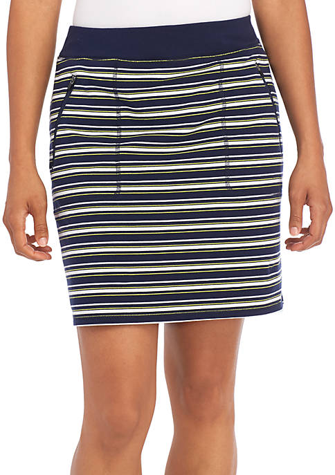 Kim Rogers® Printed Zip Pocket Skort