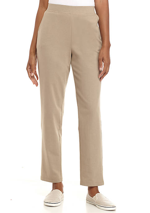 Solid Short Straight Pants