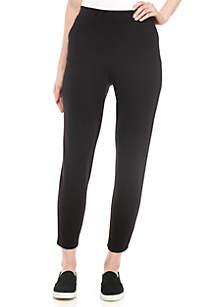 Slim Pants Solid Pants