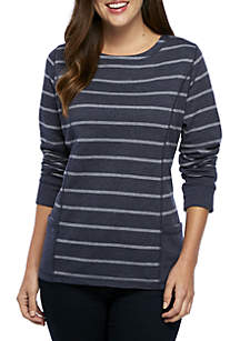 Long Sleeve Striped Pullover