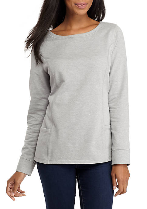 Kim Rogers® Long Sleeve Heather Pullover