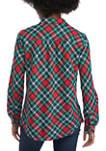 Womens Roll Tab Button Up Shirt