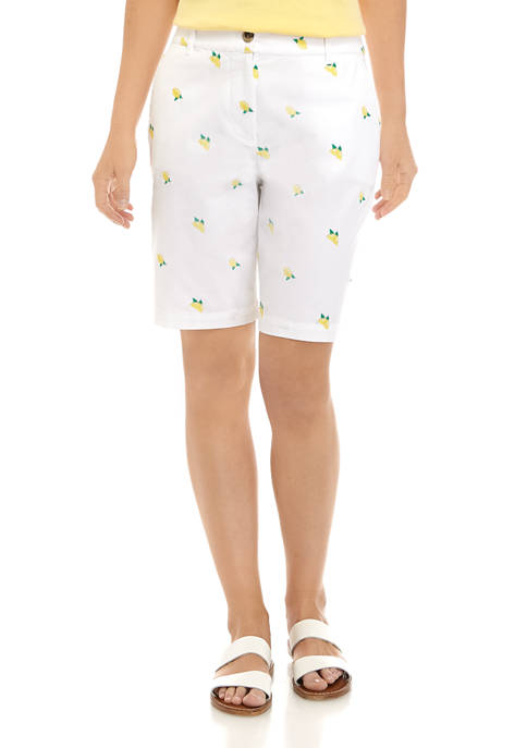 Kim Rogers® Womens Lemon Twill Shorts