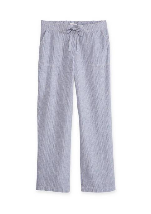Womens Tie Linen Pants