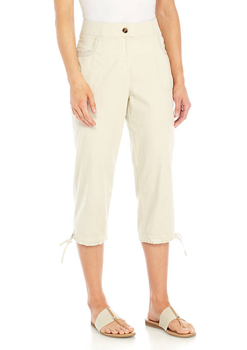 Kim Rogers® Embroidered Patched Capris