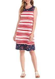 Sleeveless Mix Print Dress