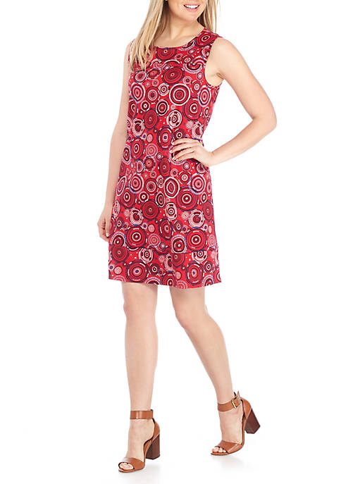 Kim Rogers® Sleeveless Circle Print Dress