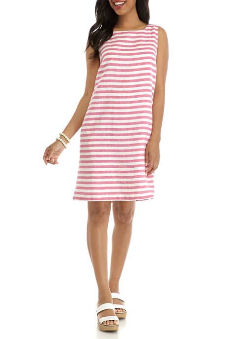 Kim Rogers® Womens Sleeveless Linen Dress