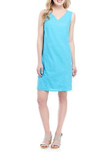 Kim Rogers® Sleeveless Linen Dress