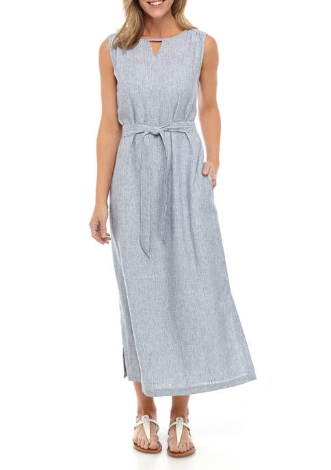 Kim Rogers® Womens Sleeveless Linen Maxi Dress