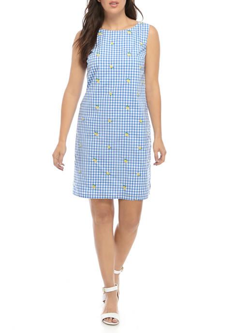 Kim Rogers® Womens Sleeveless Embellished Yarn Dye Dress