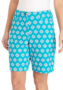 Kim Rogers® Long Print Shorts