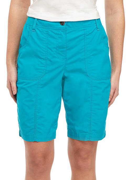Knit Waist Solid Shorts
