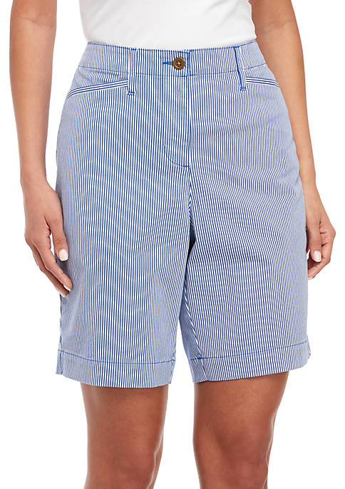 Kim Rogers® Striped Pocket Shorts