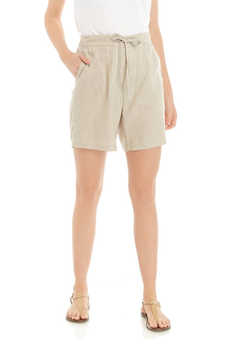 Kim Rogers® Womens Linen Shorts