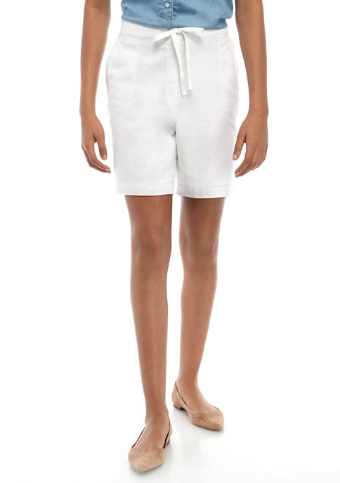 Kim Rogers® Womens Tie Linen Shorts