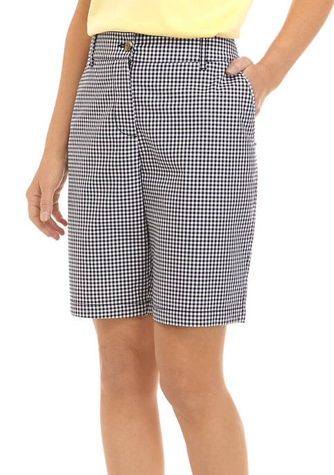 Womens Yarn Dye Twill Shorts