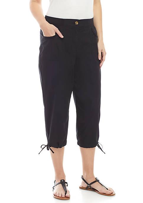 Knit Waist Capri Pants