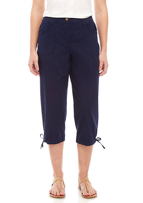 Kim Rogers® Knit Waist Capri Pants