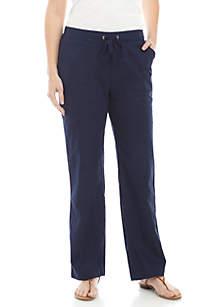 Kim Rogers® Tie Linen Pants