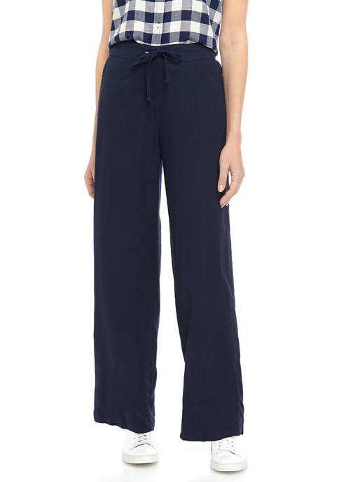Kim Rogers® Womens Tie Linen Pants