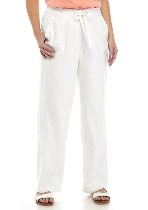 Womens Tie Waist Linen Pants