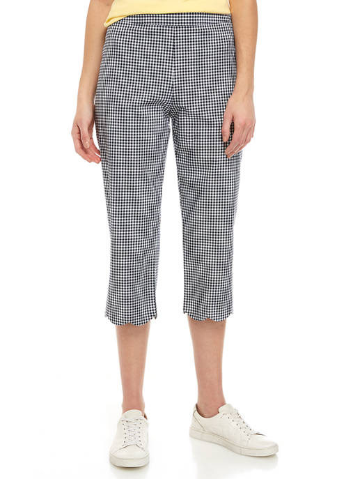 Kim Rogers® Womens Scallop Hem Cropped Pants