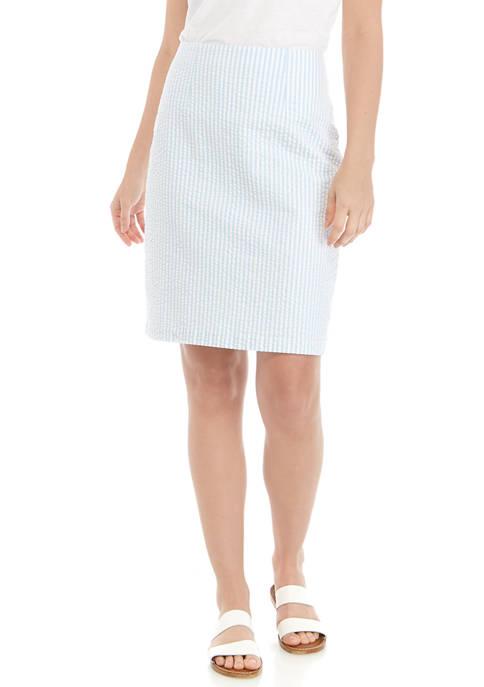 Womens Seersucker Skirt