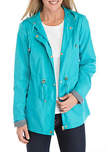 Kim Rogers® Solid Long Sleeve Anorak Jacket