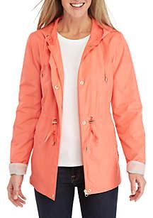 11d240141d1 ... Kim Rogers® Solid Long Sleeve Anorak Jacket