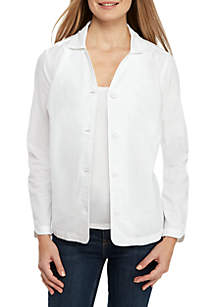 Kim Rogers® Long Sleeve Linen Button Jacket