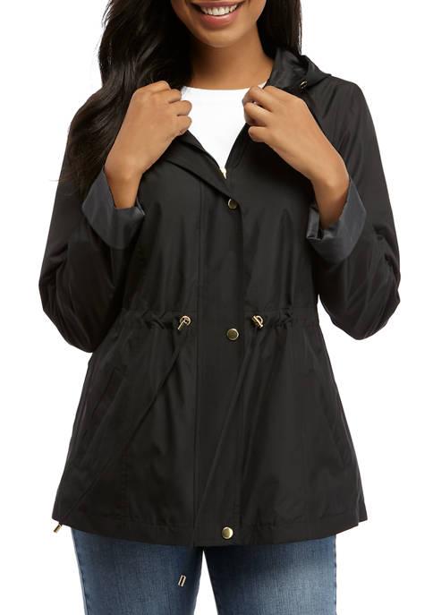 Womens Long Sleeve Anorak Solid Jacket