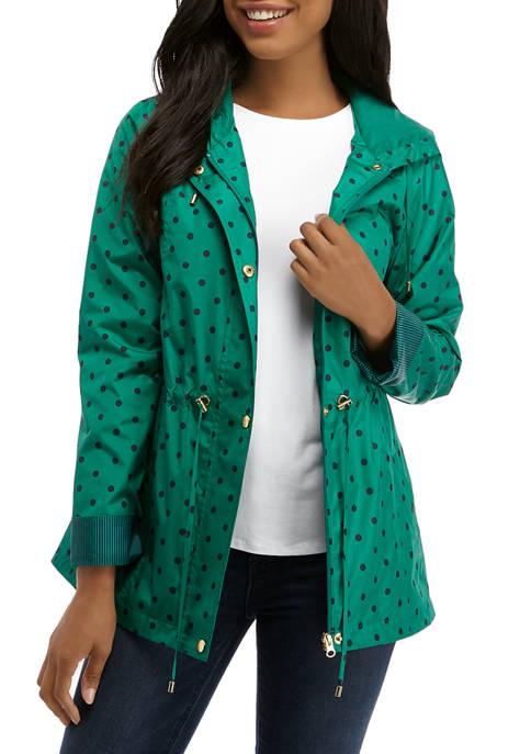 Kim Rogers® Womens Long Sleeve Hooded Anorak Jacket
