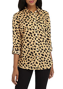 Long Sleeve Animal Print Shirt