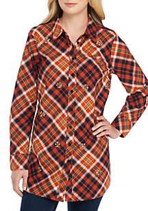 Long Sleeve Embellished Tunic