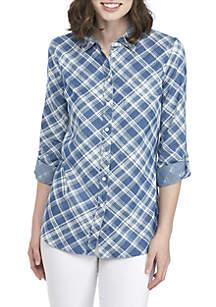 Long Roll-Tab Shirt
