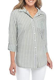 Three-Quarter Roll-Tab Sleeve Shirt