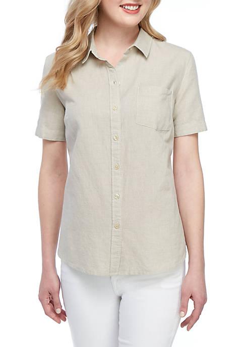 Kim Rogers® Short Sleeve Camp Shirt