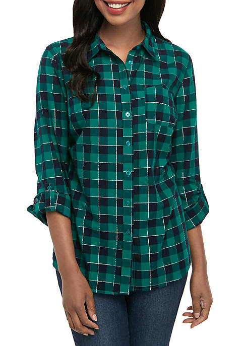 Womens Roll Tab Cambric Shirt