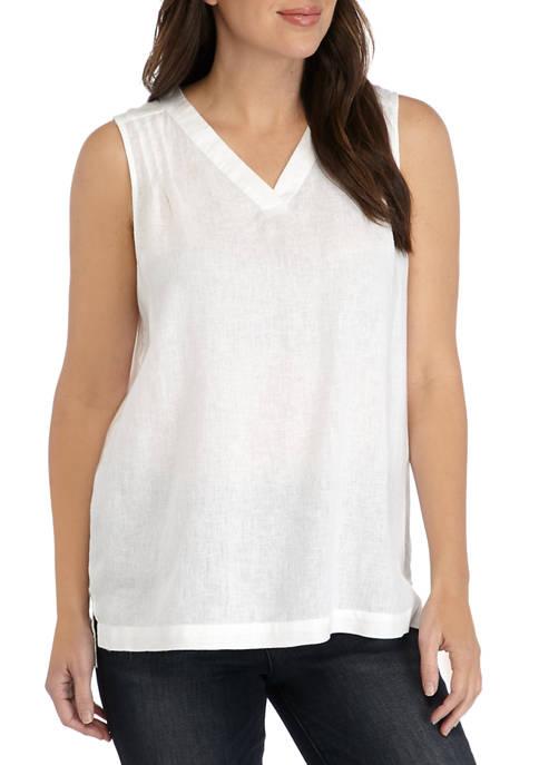 Kim Rogers® Womens Sleeveless V Neck Top