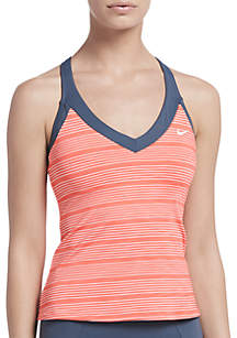 Nike® Heather Stripe V-Neck Swim Tankini